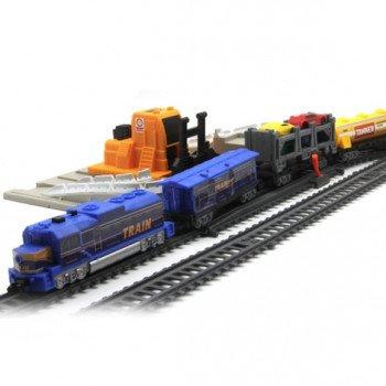Железная дорога со станцией загрузки автомобилей, длина 549 см - BSQ-2084